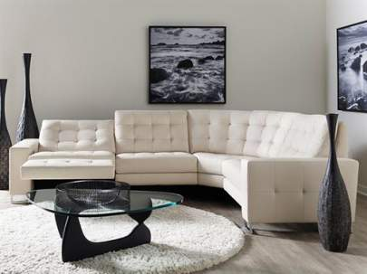 American Leather Hudson reclining sectional