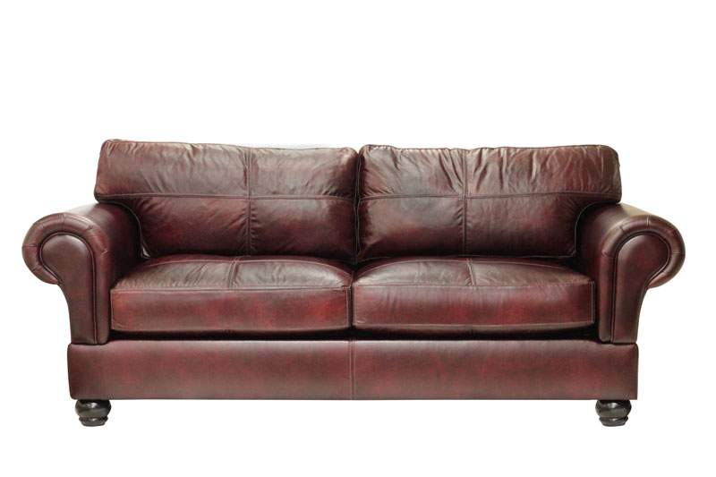 "Ashton 76"" leather sofa from Simplicity Sofas"