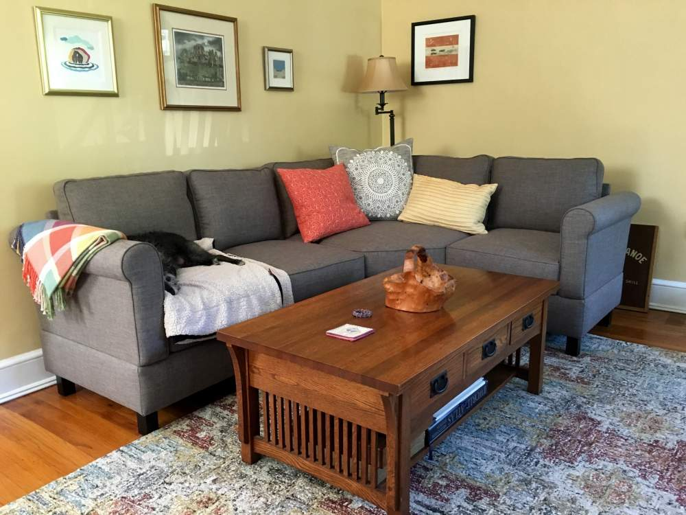 What are the average dimensions for a small sectional?