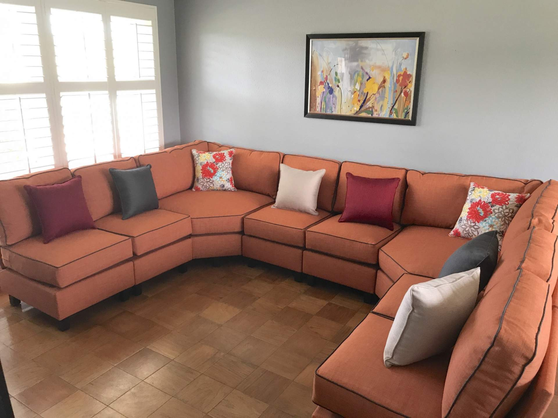 Orange-Sectional-Photo2 : sectional dimensions - Sectionals, Sofas & Couches